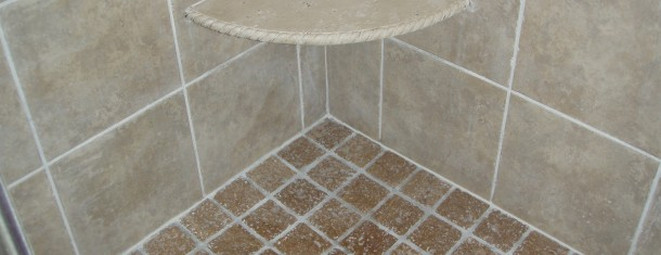Travertine Stone Shower After
