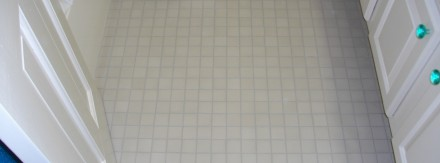 Bath Floor with 1″ Tiles After