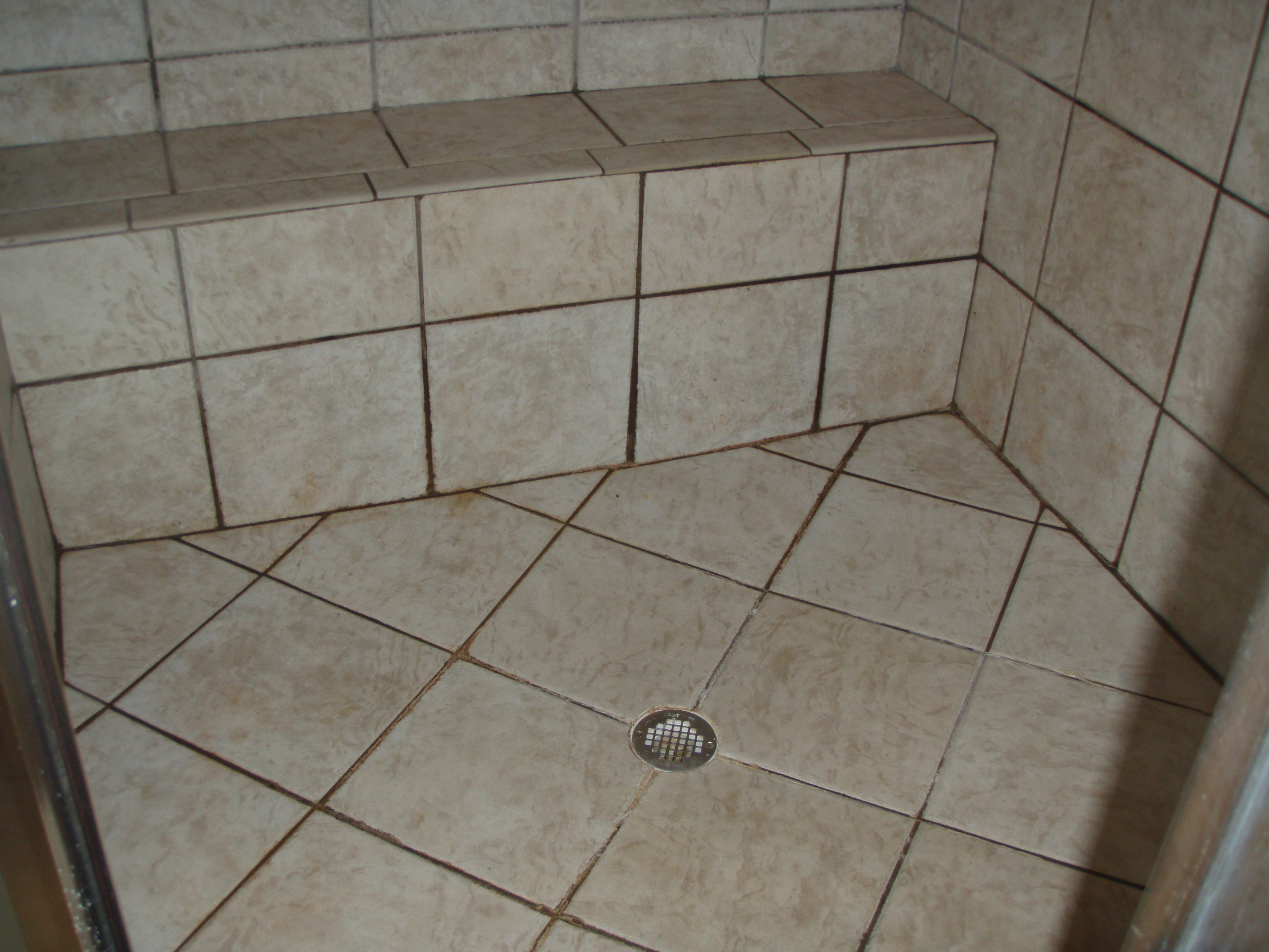 carolina grout works before and after photos of tile grout cleaning